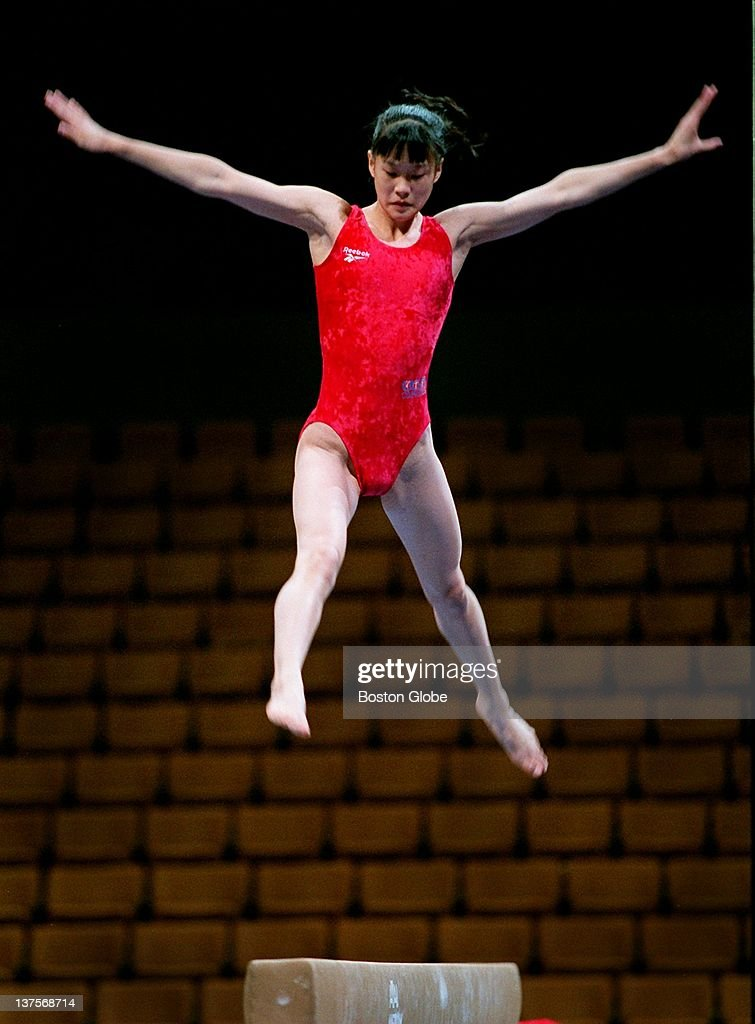 Amy Chow Practices On The Balance Beam During Today S