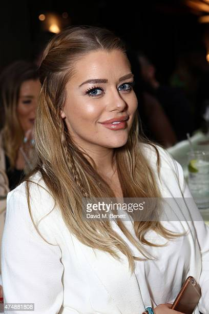 Amy Christophers attends the launch of Look Of The Day Fashion at Library on May 27 2015 in London England
