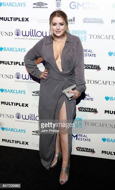 Amy Christophers attends the London Football Awards on March 2 2017 in London United Kingdom