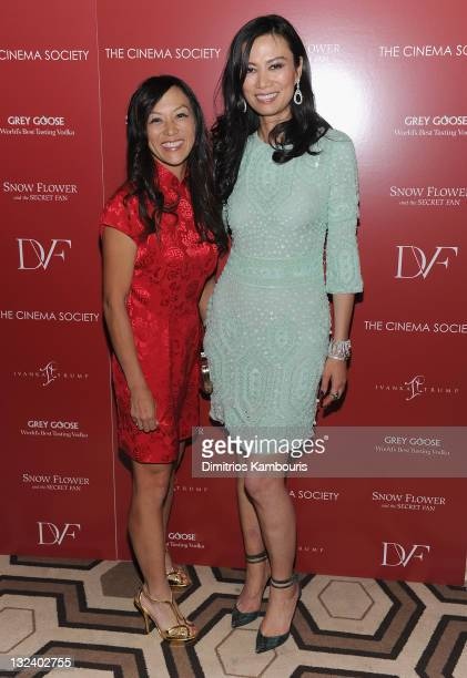 Amy Chua and producer Wendi Murdoch attend the Cinema Society with Ivanka Trump Jewelry Diane Von Furstenberg screening of 'Snow Flower And The...
