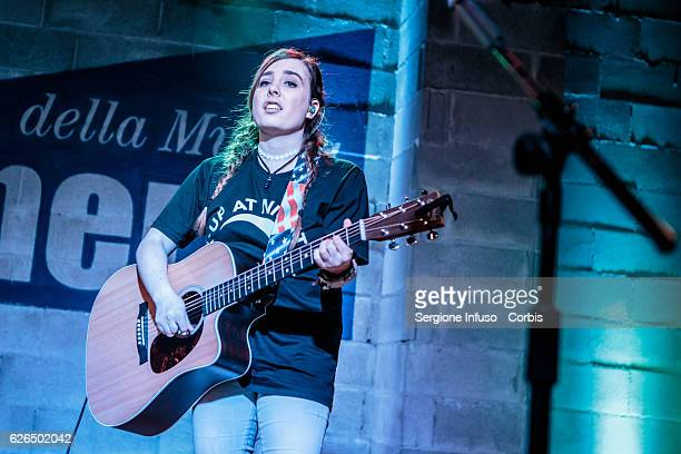 Amy Cimorelli of American singing group Cimorelli performs on stage on November 27 2016 in Milan Italy