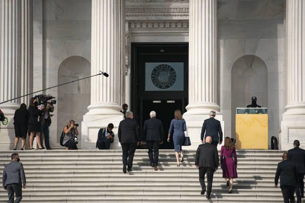 DC: Supreme Court Nominee Amy Coney Barrett Meets With Senators Ahead Of Confirmation Hearing