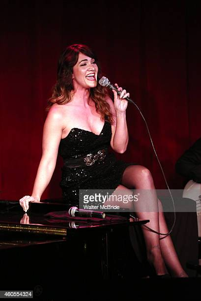 Amy Connolly performing in 'Daniel Reichard's Decked Out Holiday Party' at Birdland on December 15 2014 in New York City
