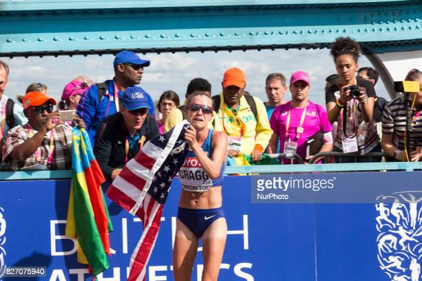 Amy Cragg third at IAAF World Championships Women Marathon in London UK on August 6 2017 42 kilometre run took place in most picturesque streets of...