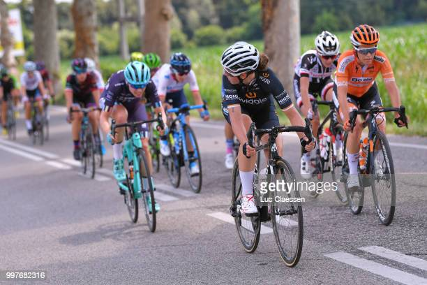 Amy Cure of Australia and Team Wiggle High5 / KarolAnn Canuel of Canada and Boels Dolmans Cycling Team / during the 29th Tour of Italy 2018 Women...