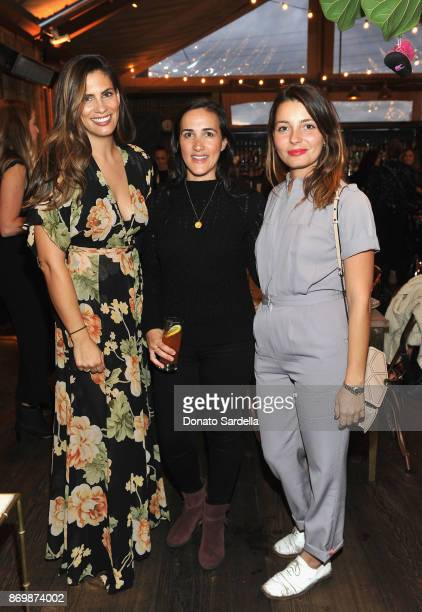 Amy Cusack Dana Gardner and Siena Montesano at SOREL x The Wall Group Stylist Dinner at The Eveleigh on November 2 2017 in Los Angeles California