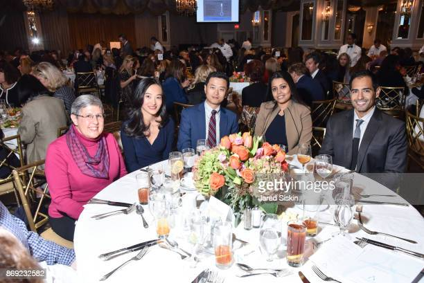 Amy Davidoff Zne Gao Haichuan Hu Triparna Sen and Marcus Goncalves attend the Twelfth Annual Lung Cancer Awareness Luncheon at The Pierre Hotel on...