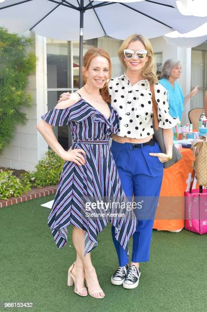 Amy Davidson and Ashley Aubra Jones attend Neocell Presents Bloom Summit at The Beverly Hilton Hotel on June 2 2018 in Beverly Hills California