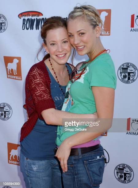 Amy Davidson and Kaley Cuoco during 4th Annual Much Love Animal Rescue Bow Wow Ween at Barrington Dog Park in Brentwood California United States