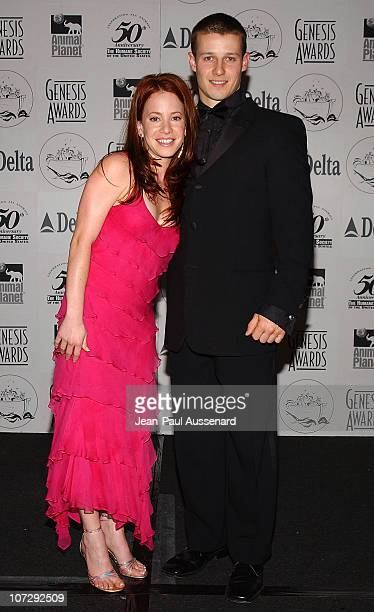 Amy Davidson and Will Estes during The 18th Annual Genesis Awards and 50th Anniversary of the Humane Society of the United States Pressroom at...