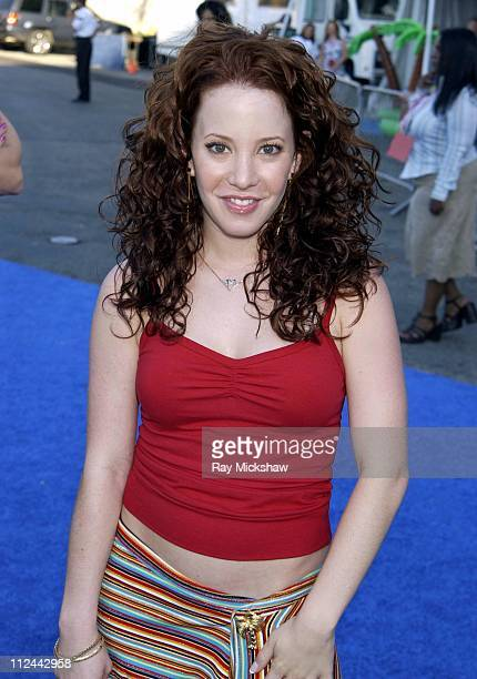 Amy Davidson during 2003 Teen Choice Awards Blue Carpet at Universal Amphitheatre in Universal City California United States