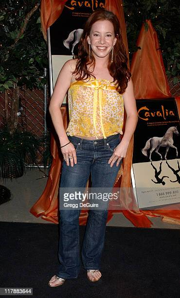 Amy Davidson during Opening Night of Cavalia Arrivals at Big Top in Glendale in Glendale California United States