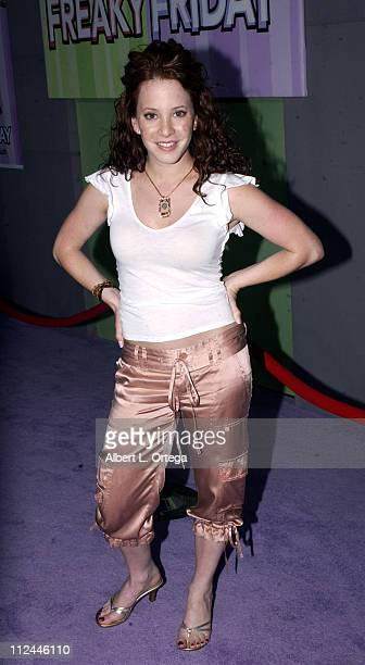 Amy Davidson during Premiere of Freaky Friday at El Capitan Theater in Hollywood California United States