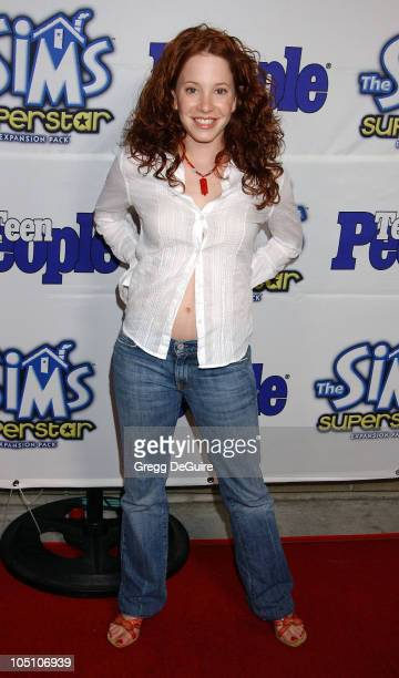 Amy Davidson during Teen People Celebrates The 6th Annual '25 Hottest Stars Under 25' at Lucky Strike Lanes in Hollywood California United States