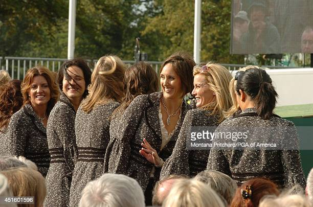Amy DiMarco Lee Henry Lisa Cink and Kim Verplank at opening ceremonies for the Ryder Cup held at The KClub in Straffan Ireland Thursday September 21...