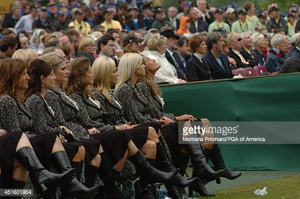 Amy DiMarco Sonya Toms Amy Campbell Tabitha Furyk Amy Mickelson Elin Woods and Melissa Lehman opening ceremonies for the Ryder Cup held at The KClub...