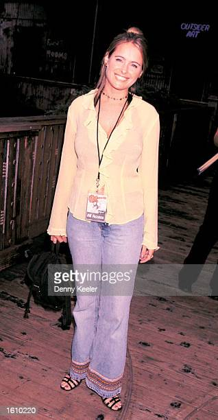 Amy Dolenz the daughter of Mickey Dolenz from The Monkees poses before a Monkees performance at the House Of Blues August 22 2001 in Los Angeles CA