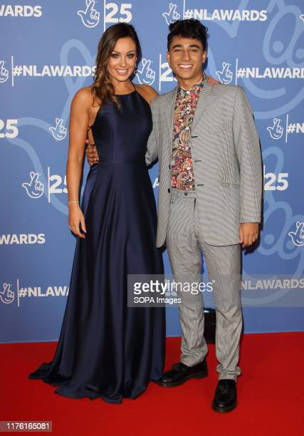 Amy Dowden and Karim Zeroual attend the National Lottery Awards 2019 held at BBC Wood Lane in London