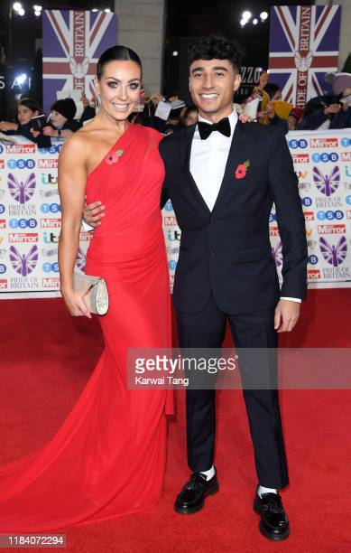 Amy Dowden and Karim Zeroual attend the Pride Of Britain Awards 2019 at The Grosvenor House Hotel on October 28, 2019 in London, England.