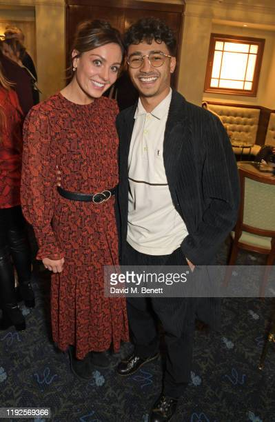 """Amy Dowden and Karim Zeroual attend the VIP Gala Night for """"Curtains: A Musical Whodunnit"""" at Wyndham's Theatre on January 8, 2020 in London, England."""