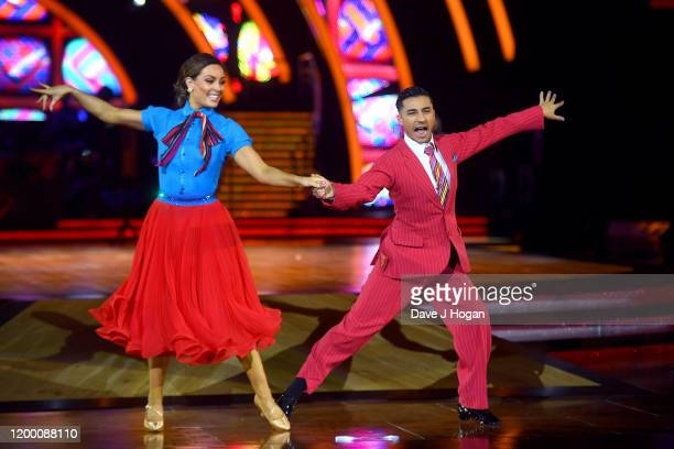 Amy Dowden and Karim Zeroual during the opening night of the Strictly Come Dancing Arena Tour 2020 at Arena Birmingham on January 16, 2020 in...