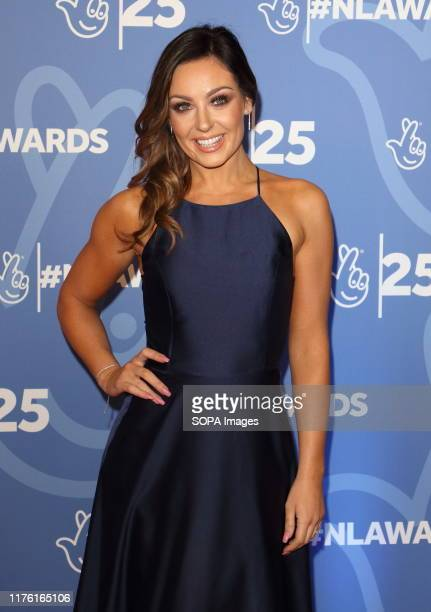 Amy Dowden attends the National Lottery Awards 2019 held at BBC Wood Lane in London.