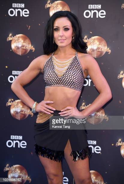 Amy Dowden attends the red carpet launch for 'Strictly Come Dancing 2018' at Old Broadcasting House on August 27 2018 in London England
