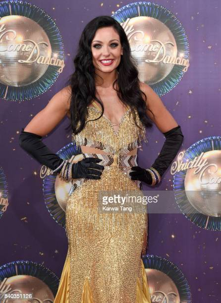 Amy Dowden attends the 'Strictly Come Dancing 2017' red carpet launch at Broadcasting House on August 28 2017 in London England