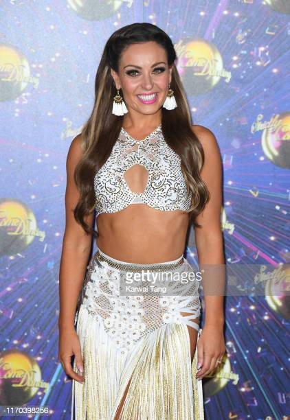 Amy Dowden attends the Strictly Come Dancing launch show red carpet arrivals at Television Centre on August 26 2019 in London England