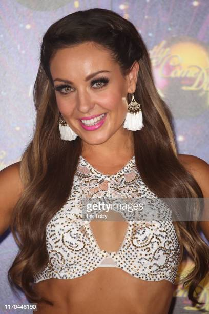 Amy Dowden attends the Strictly Come Dancing launch show red carpet at Television Centre on August 26 2019 in London England