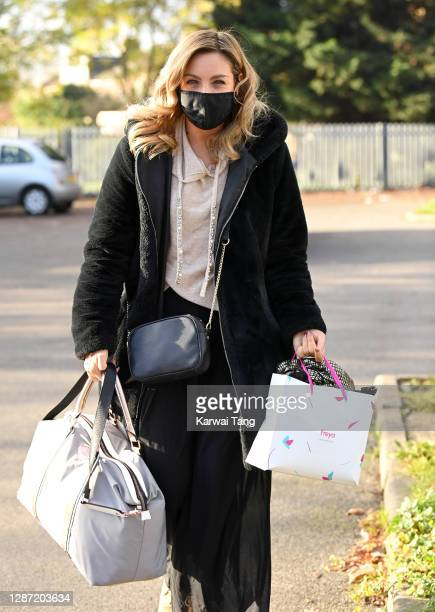 Amy Dowden from Strictly Come Dancing 2020 seen arriving at a rehearsal studio on November 23, 2020 in London, England.
