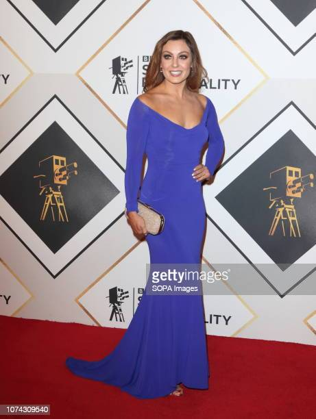 Amy Dowden on the red carpet at the BBC Sports Personality Of The Year 2018 at the Resorts World Arena