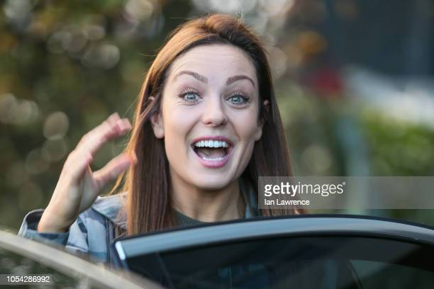 Amy Dowden seen leaving the Village Hotel in Elstree ahead of Strictly rehearsals on October 27 2018 in London England
