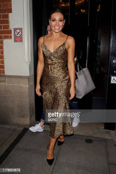 Amy Dowden seen leaving TV studios after recording Strictly It Takes Two on October 04, 2019 in London, England.