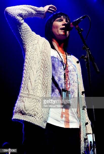 Amy Driver of Scars on 45 performs in support of the bands' Heart on Fire EP release at the Fox Theater on February 20 2012 in Oakland California