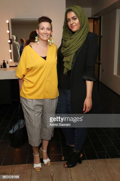 Amy Emmerich and Amani AlKhatahtbeh attend 'Time's Up' during the 2018 Tribeca Film Festival at Spring Studios on April 28 2018 in New York City