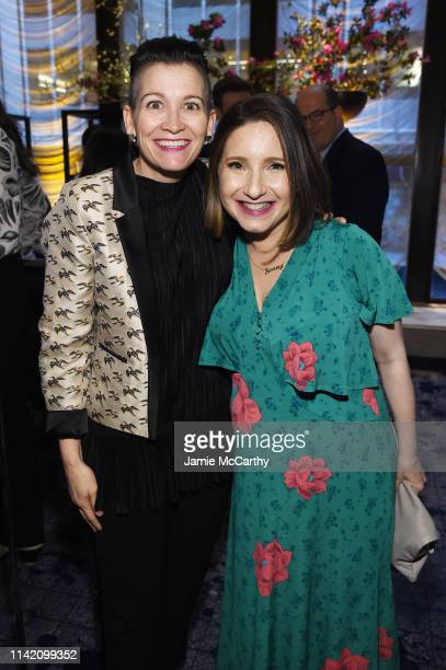 Amy Emmerich and Jamie Shupak Stelter attend The Hollywood Reporter's 9th Annual Most Powerful People In Mediaat The Pool on April 11 2019 in New...