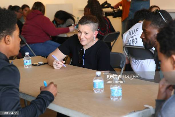 Amy Emmerich attends the Empathy Lab AntiBullying Workshop hosted by Refinery29 and Columbia University School of the Arts Digital Storytelling Lab...