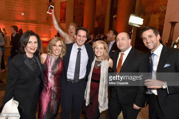 Amy Entelis, Alisyn Camerota, John Berman, Kelly Wallace, Brian Stelter, and Dave Briggs attend CNN Heroes 2017 at the American Museum of Natural...
