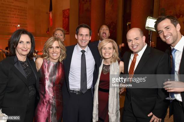 Amy Entelis Alisyn Camerota John Berman Kelly Wallace Brian Stelter and Dave Briggs attend CNN Heroes 2017 at the American Museum of Natural History...