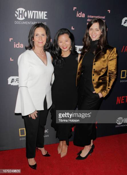 Amy Entelis Morgan Fallon and Lizzie Fox of ANTHONY attend the 2018 IDA Documentary Awards on December 8 2018 in Los Angeles California