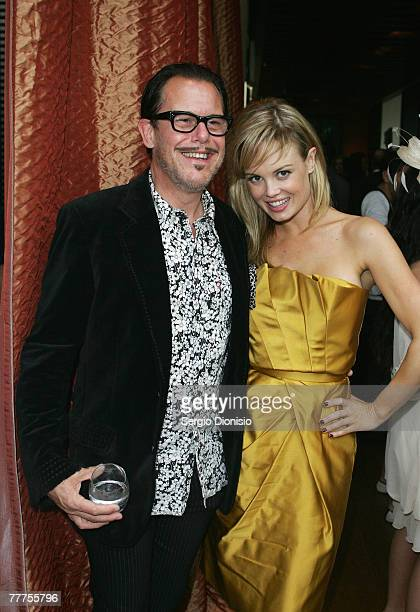 Amy Erbacher and Kirk Pengilly attends Kate Waterhouse's Melbourne Cup Party at the Zeta Bar at The Hilton Hotel on November 6 2007 in Sydney...