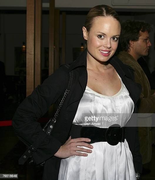 Amy Erbacher arrives at the premiere for 'Forbidden Lies' at the Verona Cinema Paddington on September 4 2007 in Sydney Australia