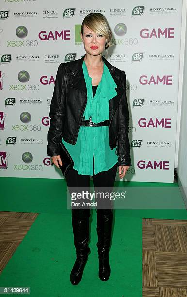 Amy Erbacher attends MTV's Xbox party at the MTV headquarters on June 5 2008 in Sydney Australia
