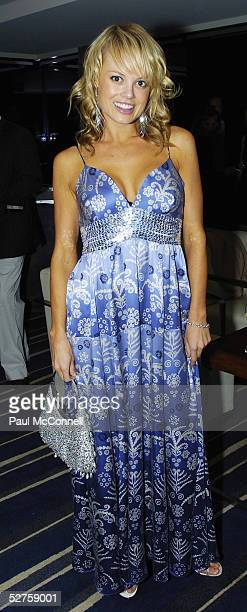 Amy Erbacher attends the Charlie Brown After Party for Mercedes Fashion Week at The Intercontinental Hotel May 4 2005 in Sydney Australia
