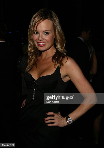 Amy Erbacher attends the Golden Slipper Party at Star City's Astral Champagne Bar on April 17 2008 in Sydney Australia