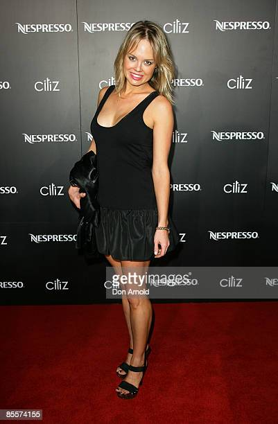Amy Erbacher attends the Nespresso CitiZ Launch on George Street on March 24 2009 in Sydney Australia