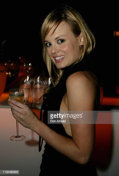 Amy Erbacher attends the Veuve Cliquot Yellow Party at Cell Block Theatre Darlinghurst on October 16 2007 in Sydney Australia The champagne brand has...