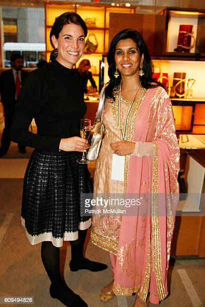 Amy Erbesfeld and Geentanjali Kirloskar attend LOUIS VUITTON Celebrates 60 Years of INDIA's Independence at Louis Vuitton on September 25 2007 in New...