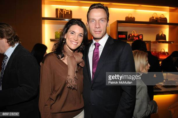 Amy Erbesfeld and Geoffroy van Raemdonck attend The Reopening of LOUIS VUITTON at Bloomingdale's 59th Street on February 19 2009 in New York City
